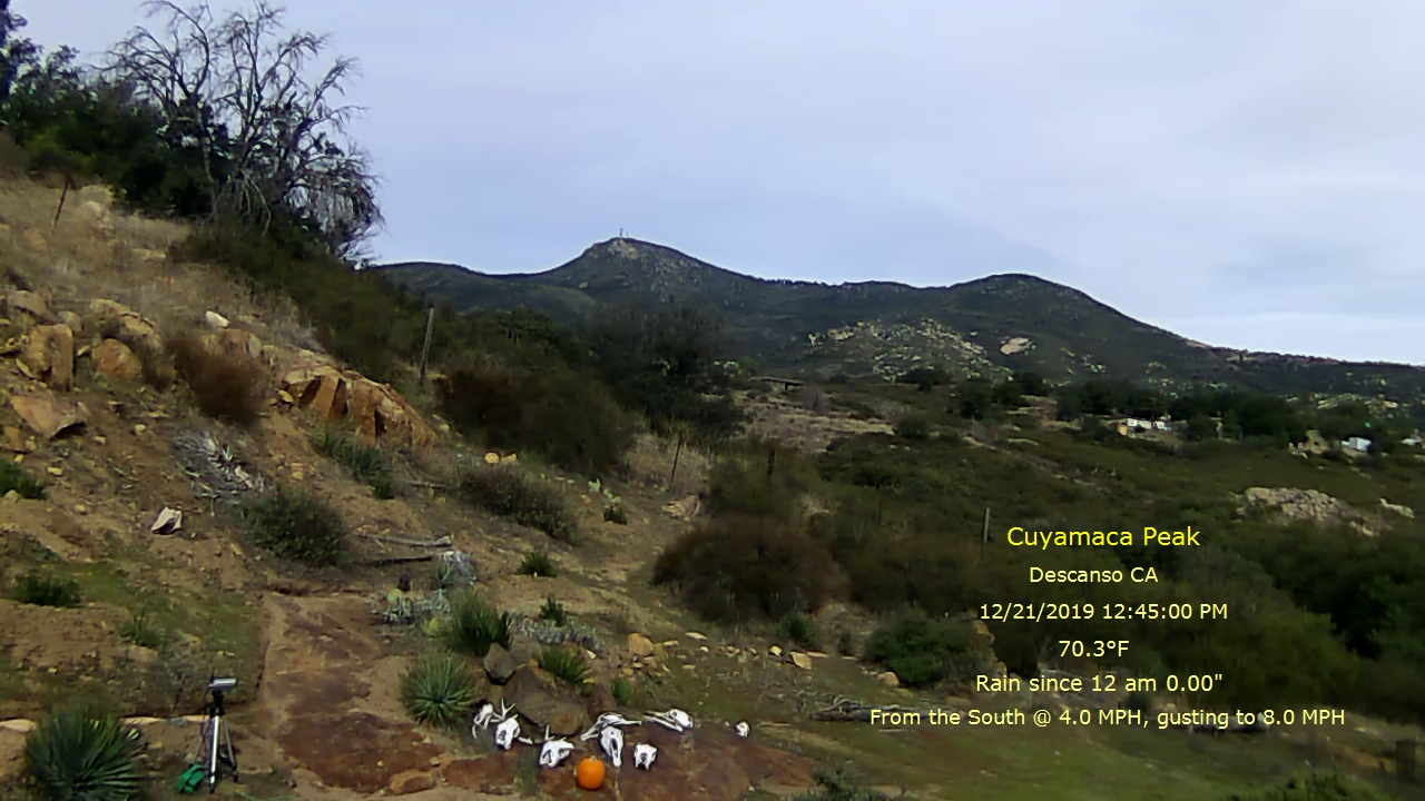 Mount Cuyamaca, California webcam